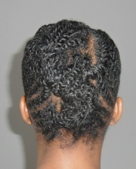 Flat twist double twisted updo_1