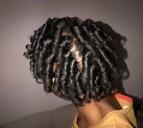 Curlformers curls on natural hair