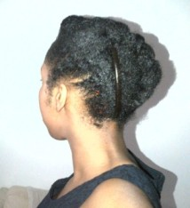 Afro Hair french roll