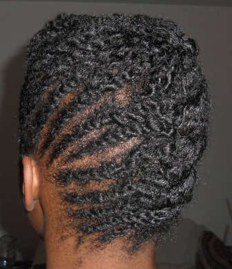 Flat twist French Roll updo_3