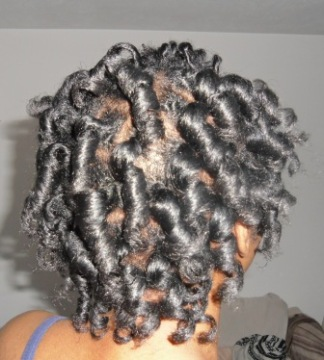 curlformers set on natural hair