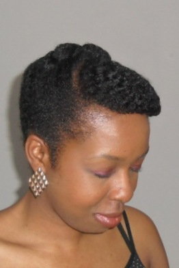 Natural Hair Retro Flat Twist Updo_front