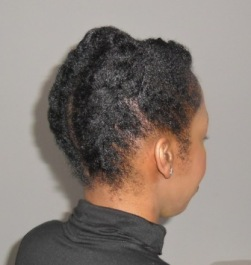 natural hair retro updo side
